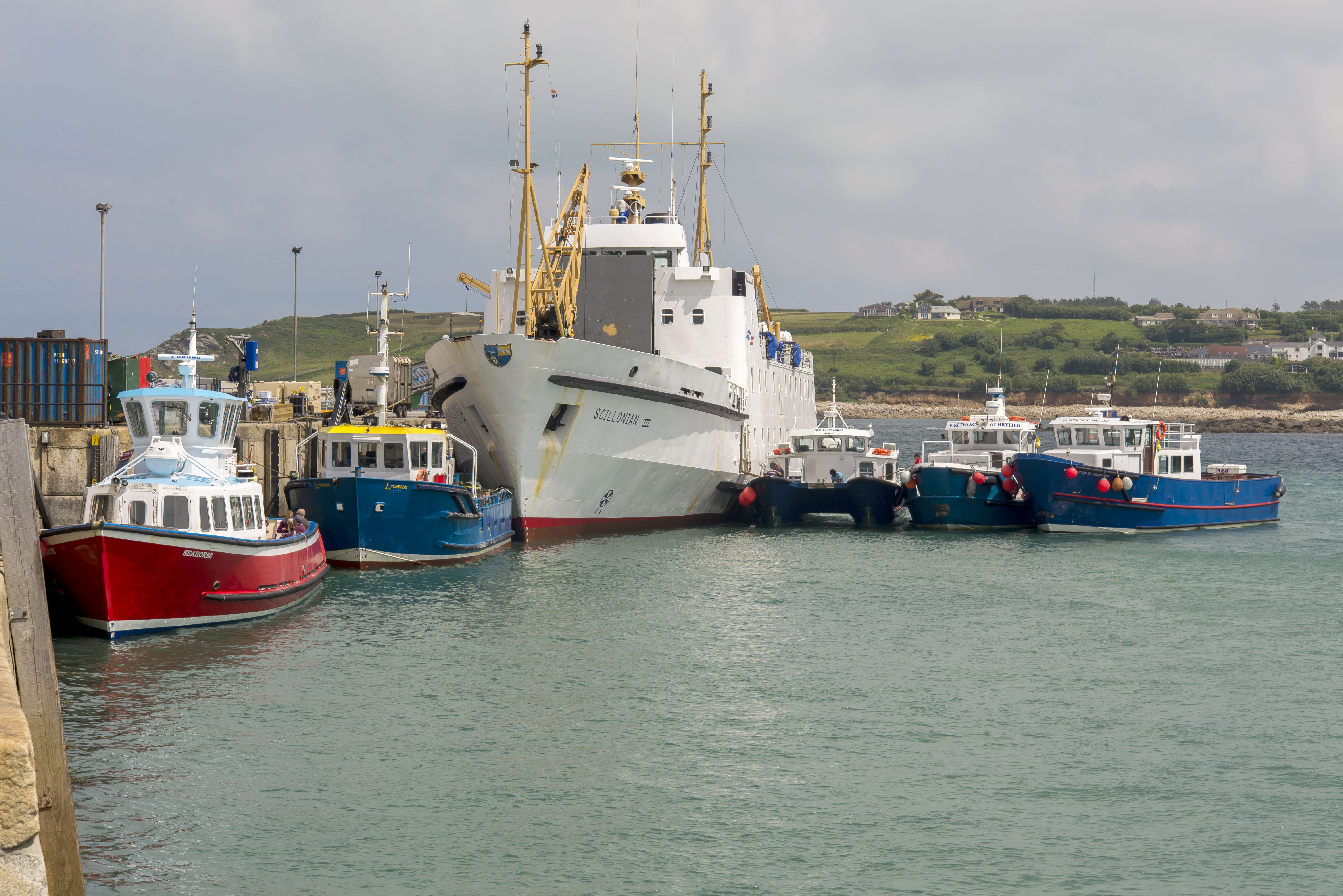 Scillonian at Hghtown, St Mary's