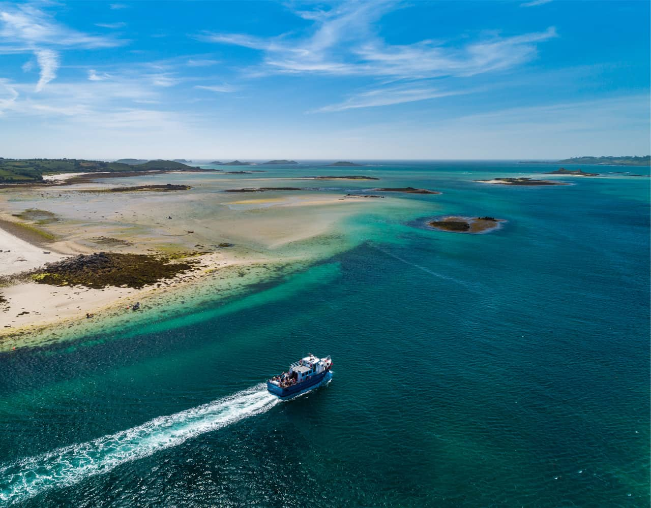 Summer boat trip on St Martins - Isles of Scilly