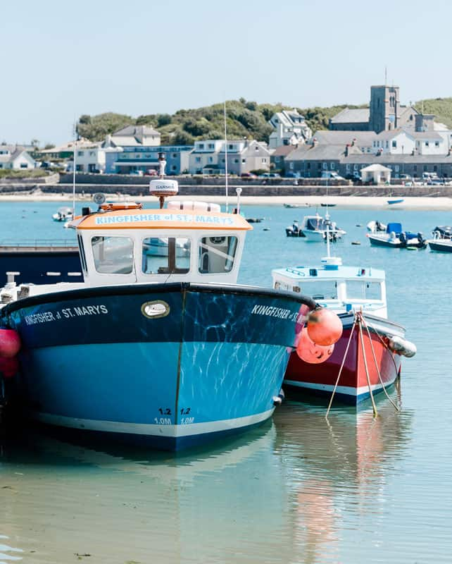 Tripper Boat in St. Mary's Harbour, Isles of Scilly