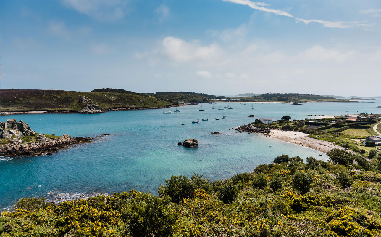 View from Bryher to Tresco - Isles of Scilly
