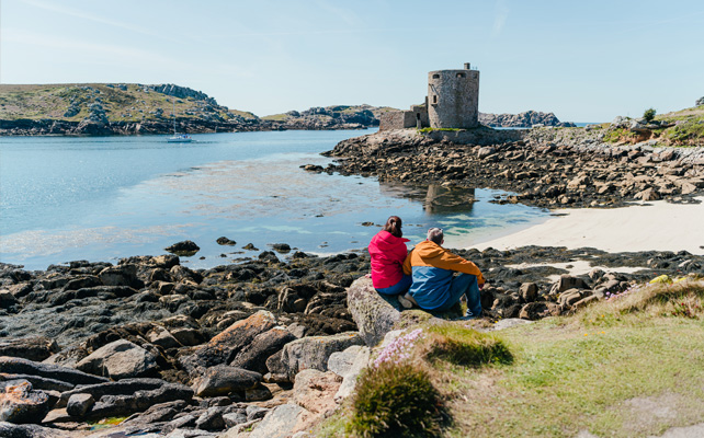Cromwell Castle in Autumn - Tresco, Isles of Scilly