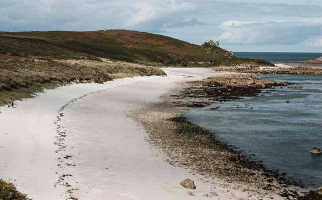 Little and Great Bay Beach on St. Martin's in Autumn