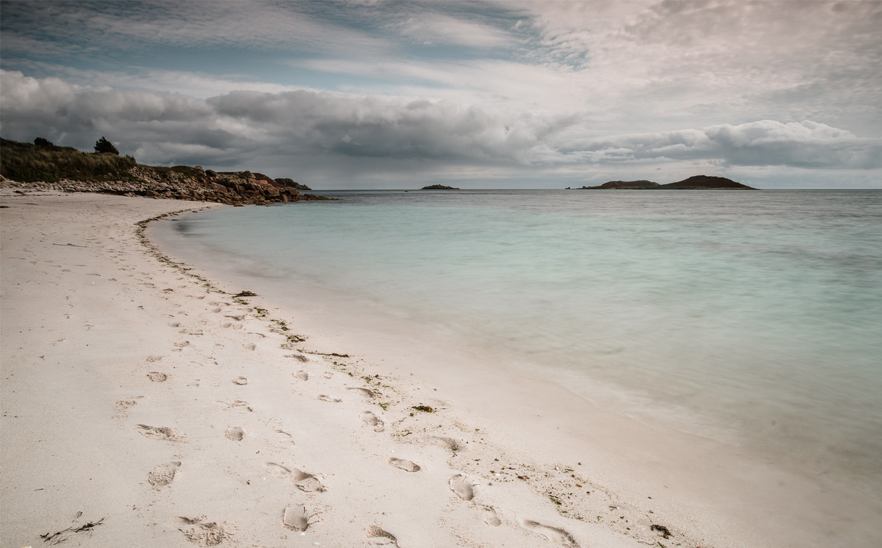 Par Beach on St. Martin's, Isles of Scilly in Autumn