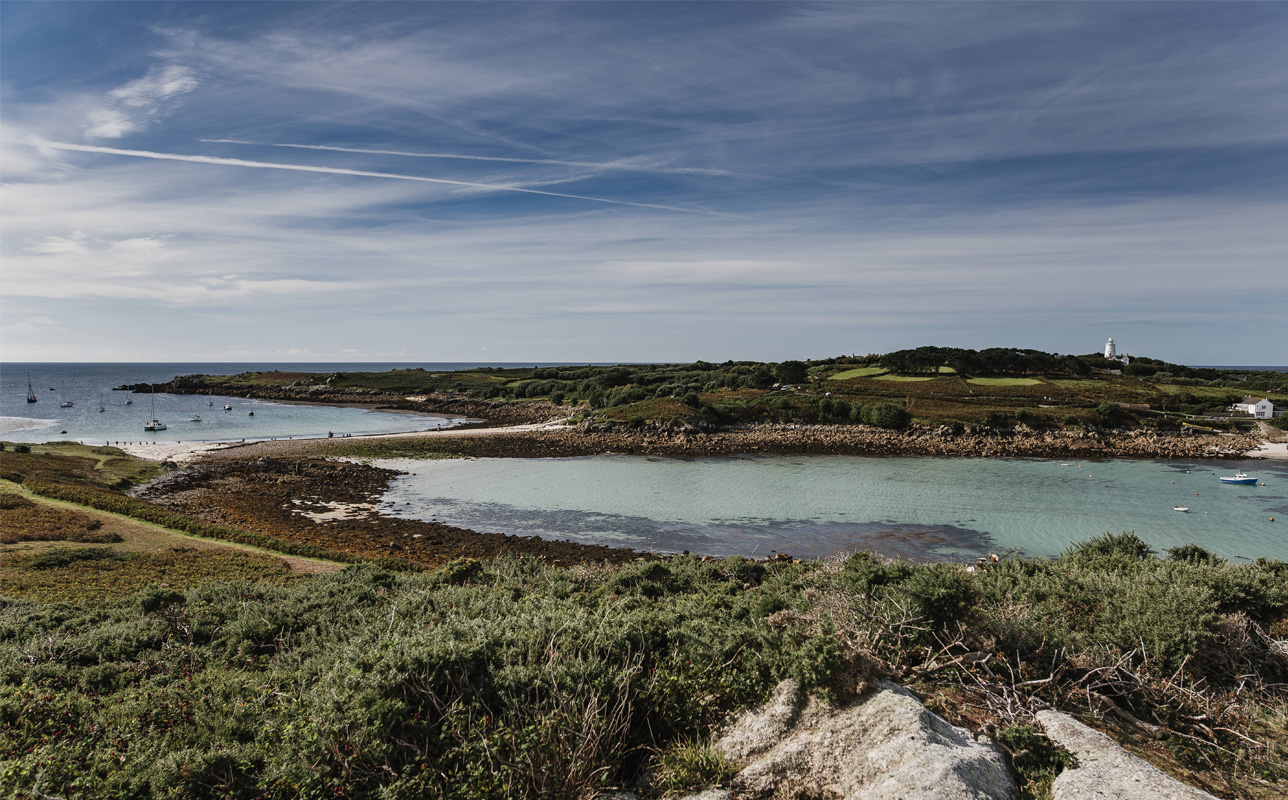 The Bar joins St. Agnes and Gugh - Autumn on Scilly