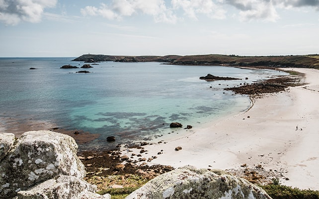 White sandy beach, autumn - St Martin's, Isles of Scilly